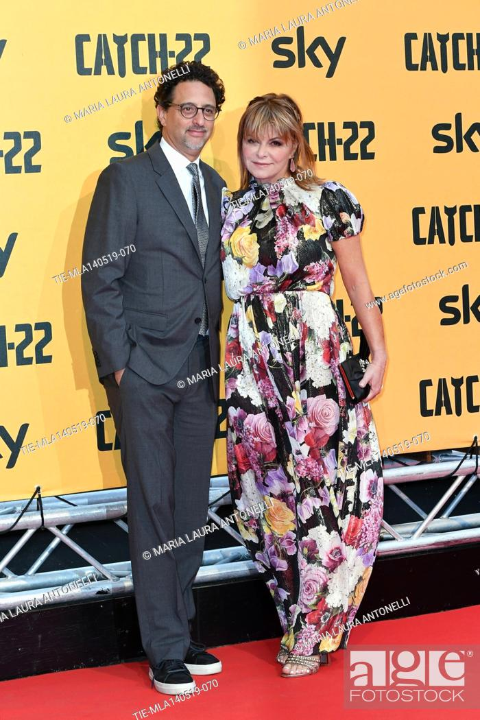 Stock Photo: Grant Heslov, Lisa Heslov during the Red carpet for the Premiere of film tv Catch-22, Rome, ITALY-13-05-2019.