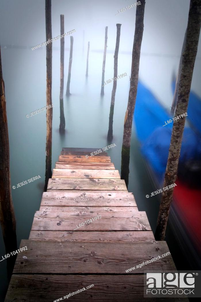 Stock Photo: Fog in Venice, Italy.