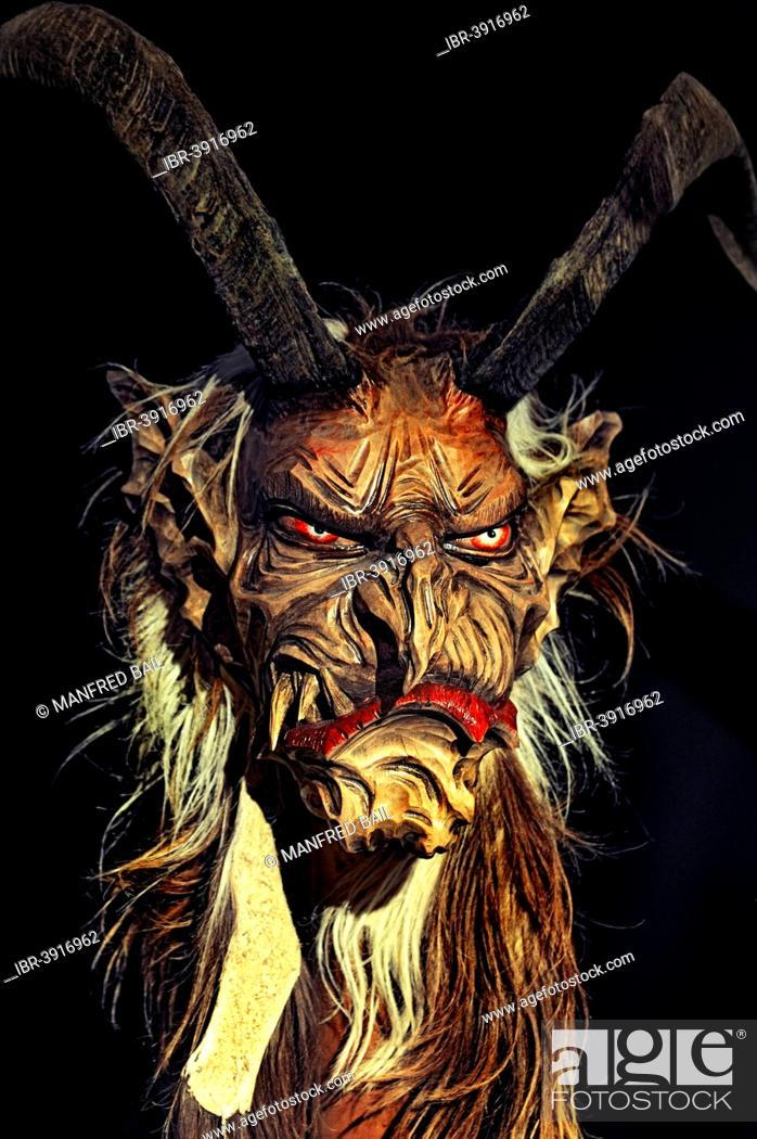 Wooden Mask Krampus A Beast Like Creature Special Exhibition On