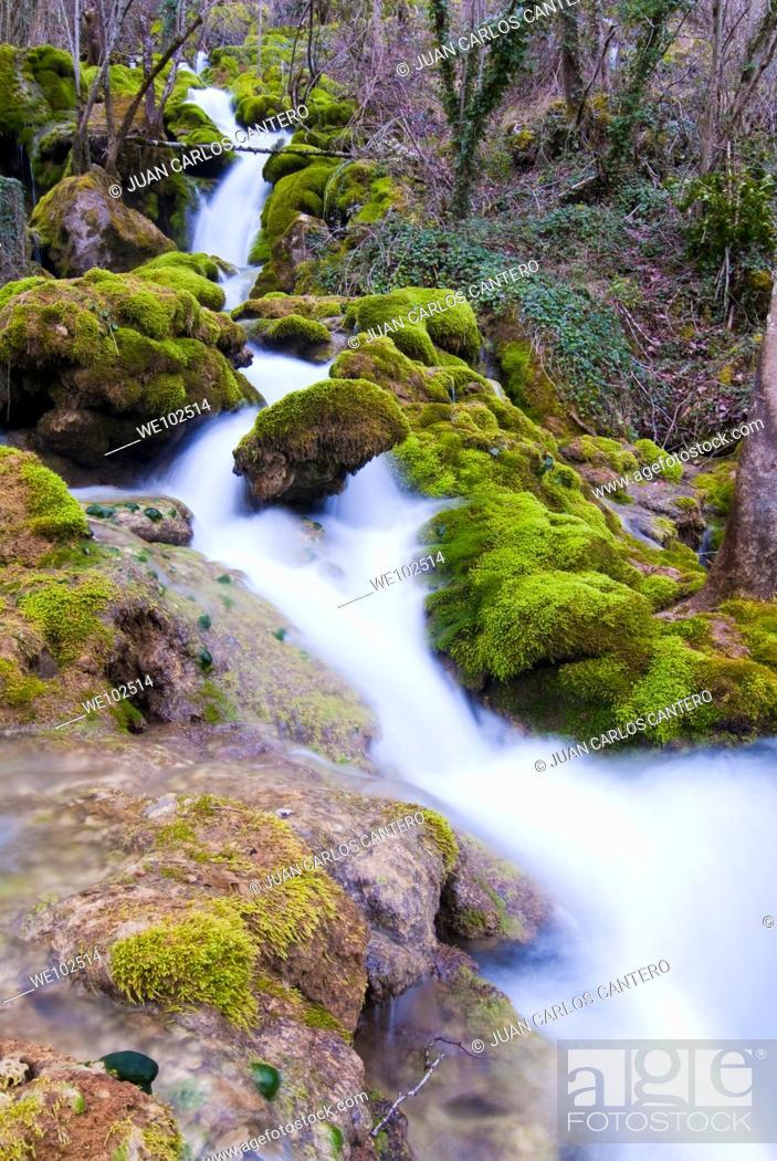 Stock Photo: Rio Urederra in the Sierra de Urbasa. Navarra. Spain. Europe.
