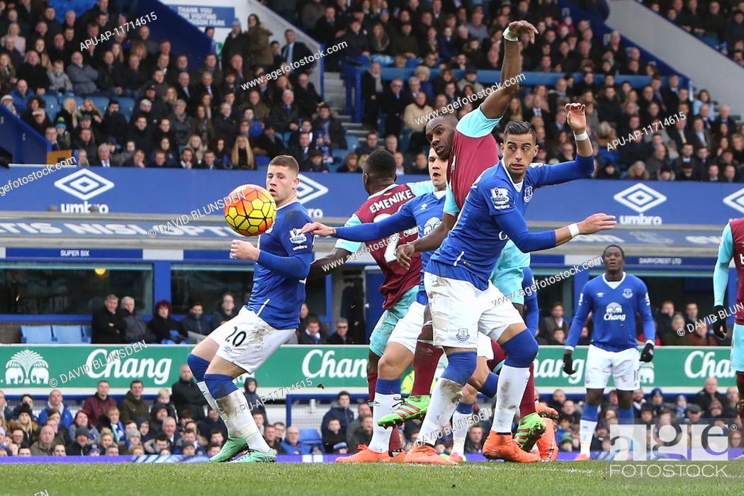 Stock Photo: 2016 Barclays Premier League Everton v West Ham Mar 5th. 05.03.2016. Goodison Park, Liverpool, England. Barclays Premier League.