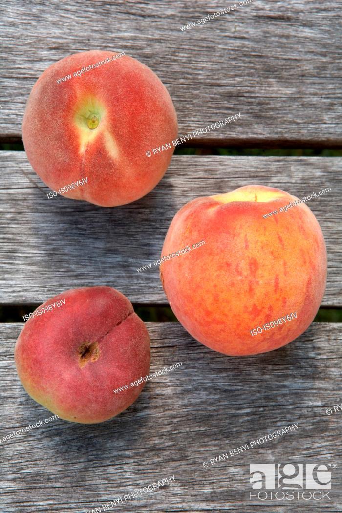 Stock Photo: Fresh peaches, still life.