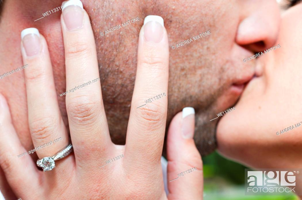 Stock Photo: Couple kissing.