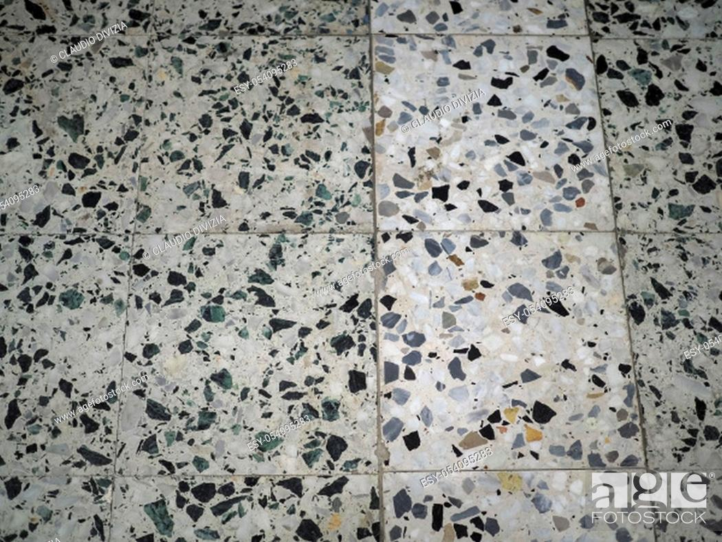 Stock Photo: white and black marble tiles texture useful as a background.