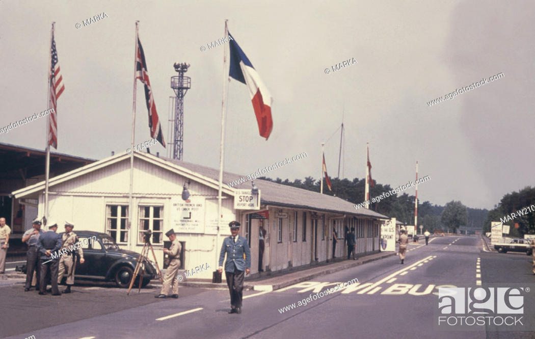 Stock Photo: helmstadt checkpoint, berlin, germany.