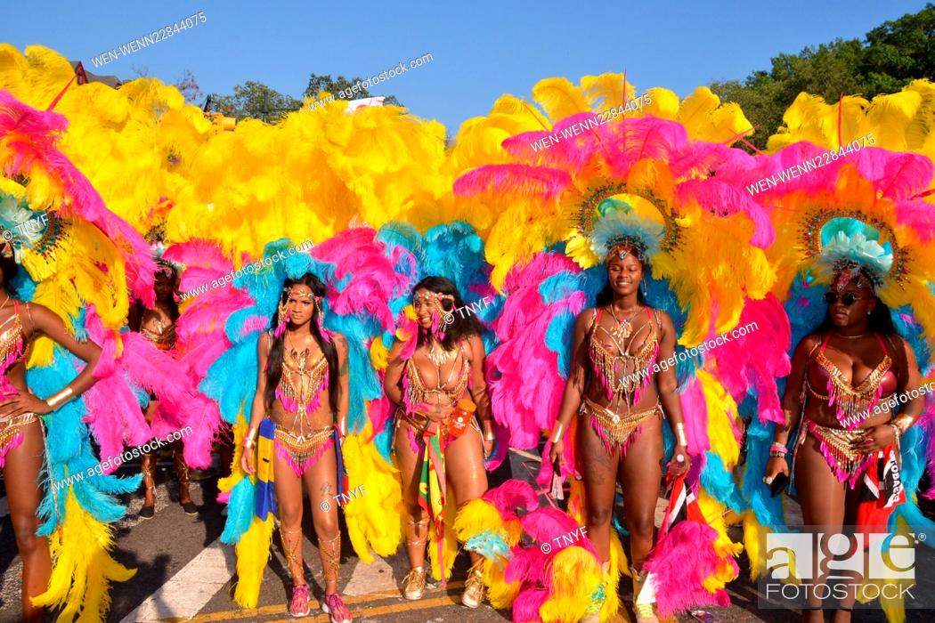 Stock Photo: Scene from 2015 West Indies Day Parade Featuring: Governor Cuomo, Mayor DeBlasio, Atmosphere Where: Manhattan, New York, United States When: 08 Sep 2015 Credit:.
