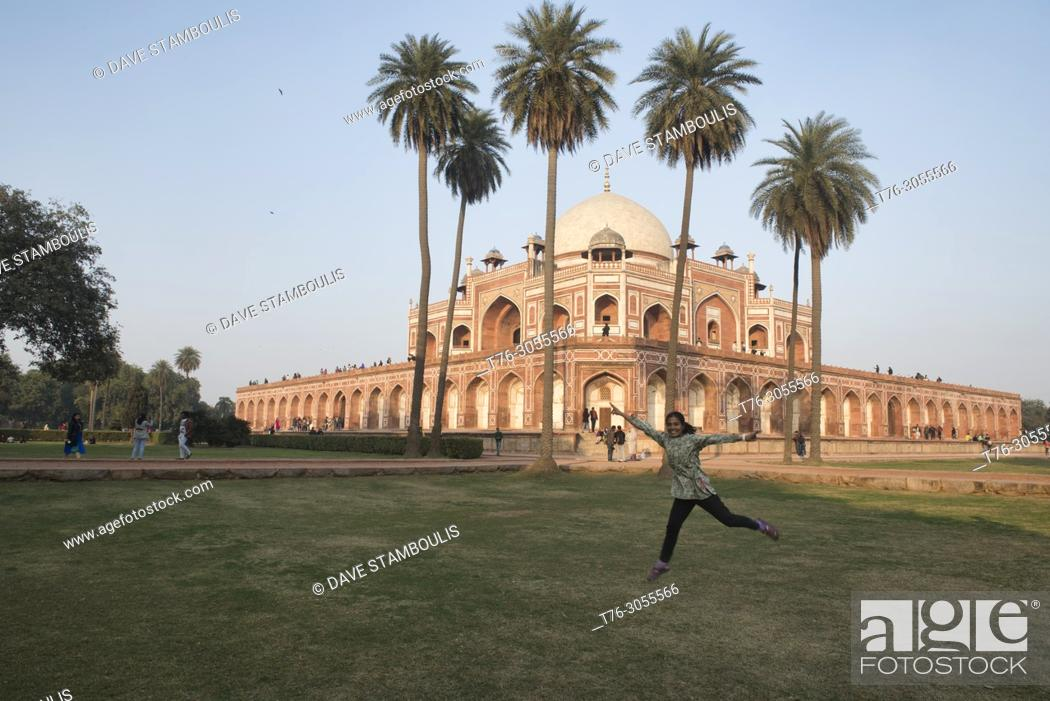 Stock Photo: Humayum's Tomb, a UNESCO World Heritage Site, Delhi, India.