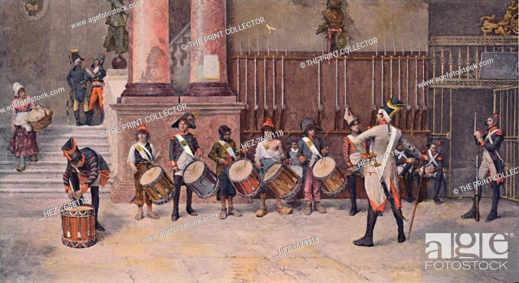 Stock Photo: 'The Drummers of the Republic', 1896. Artist: Unknown.