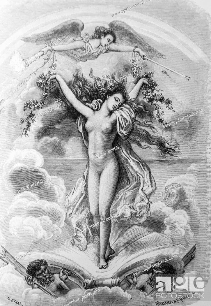 Photo de stock: portrait of iris, tales of the fountain publisher garnier freres 1870.