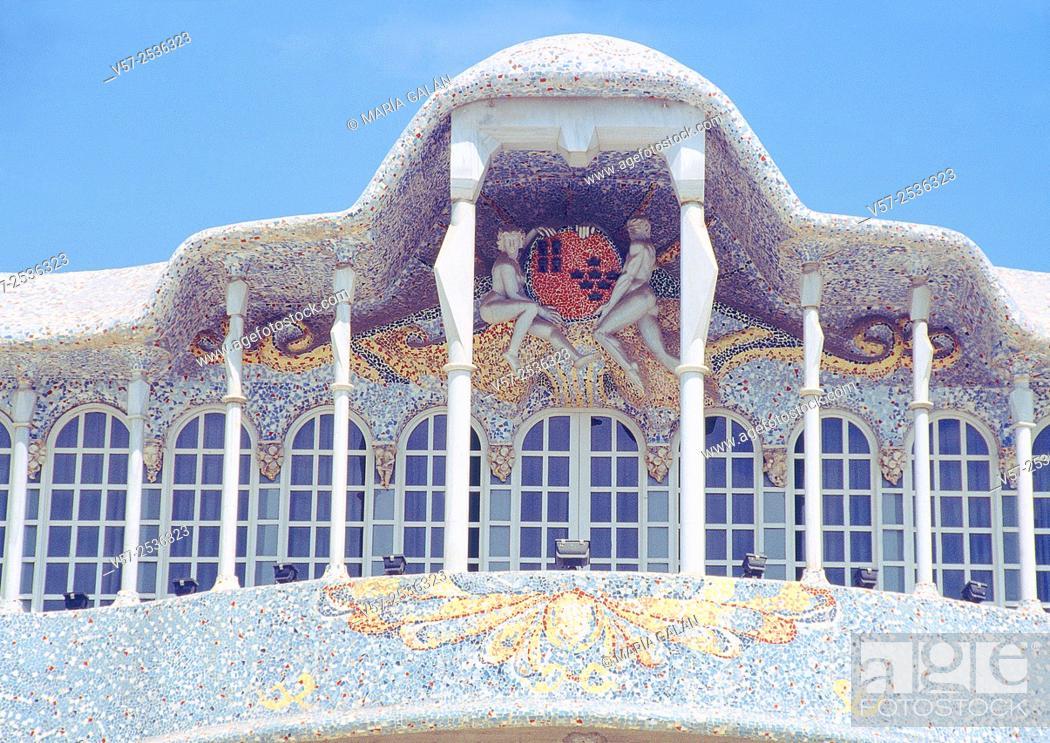 Stock Photo: Facade of Regional Assembly building. Cartagena, Murcia, Spain.