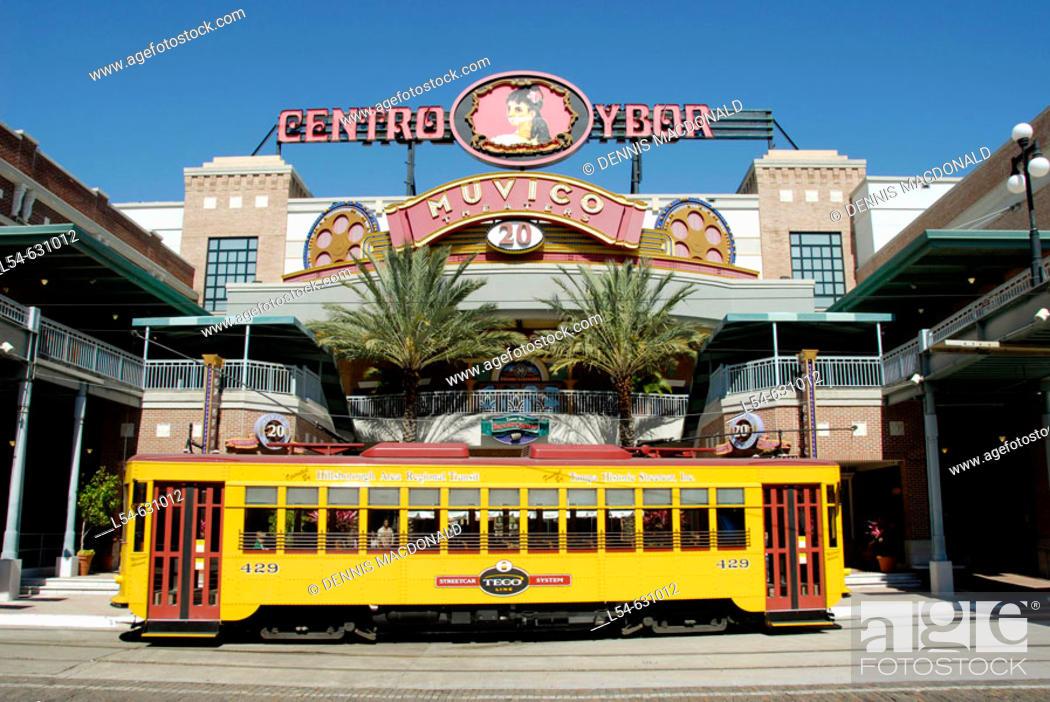 Stock Photo: Ybor City is a popular tourist Cuban American part of Tampa, Florida. USA.