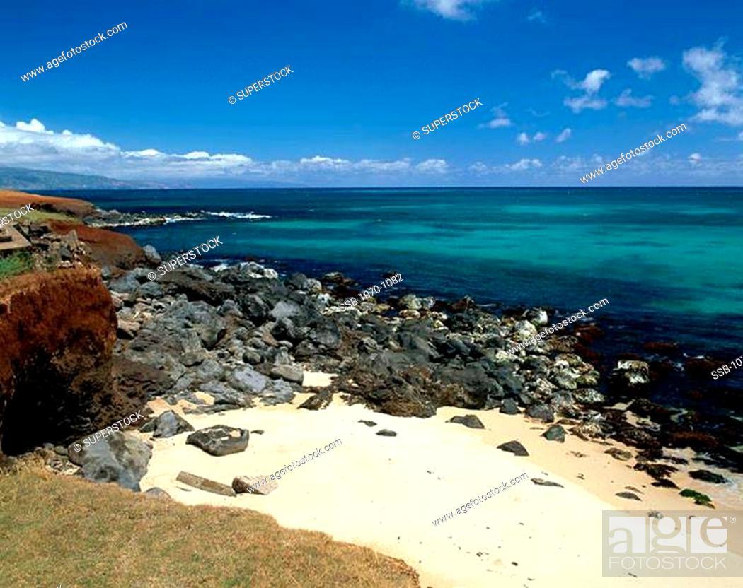 Stock Photo: East Shore Maui Hawaii USA.
