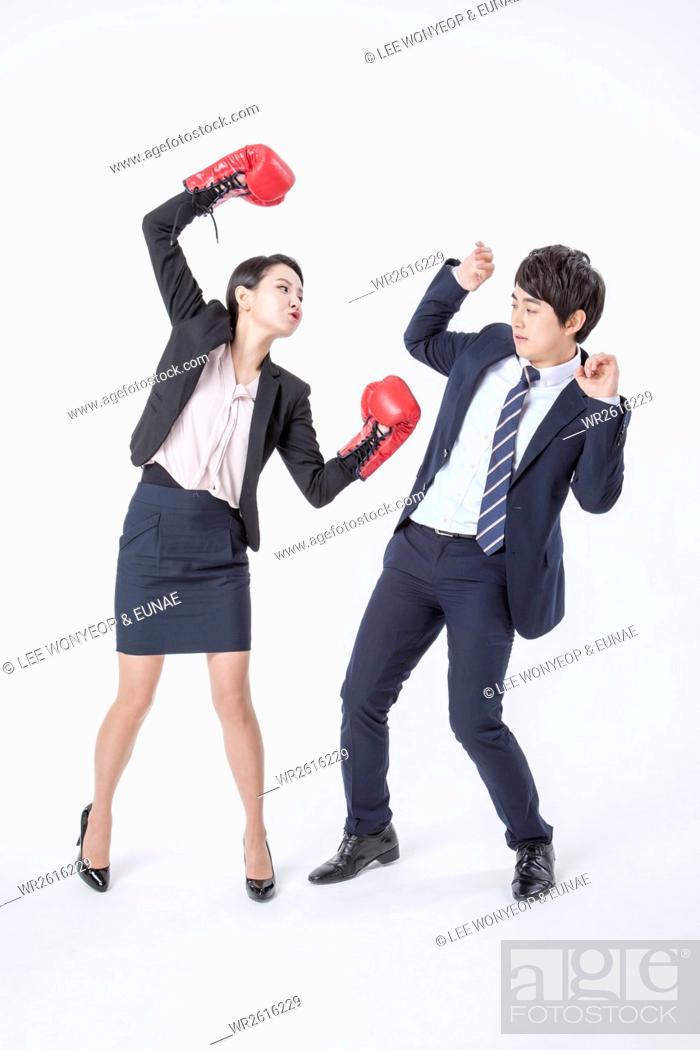 Imagen: Lifestyle of working couple.