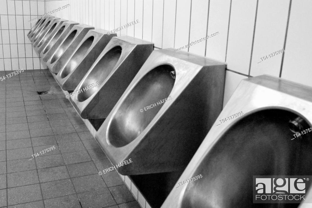 Stock Photo: Public men's toilet in Munich.