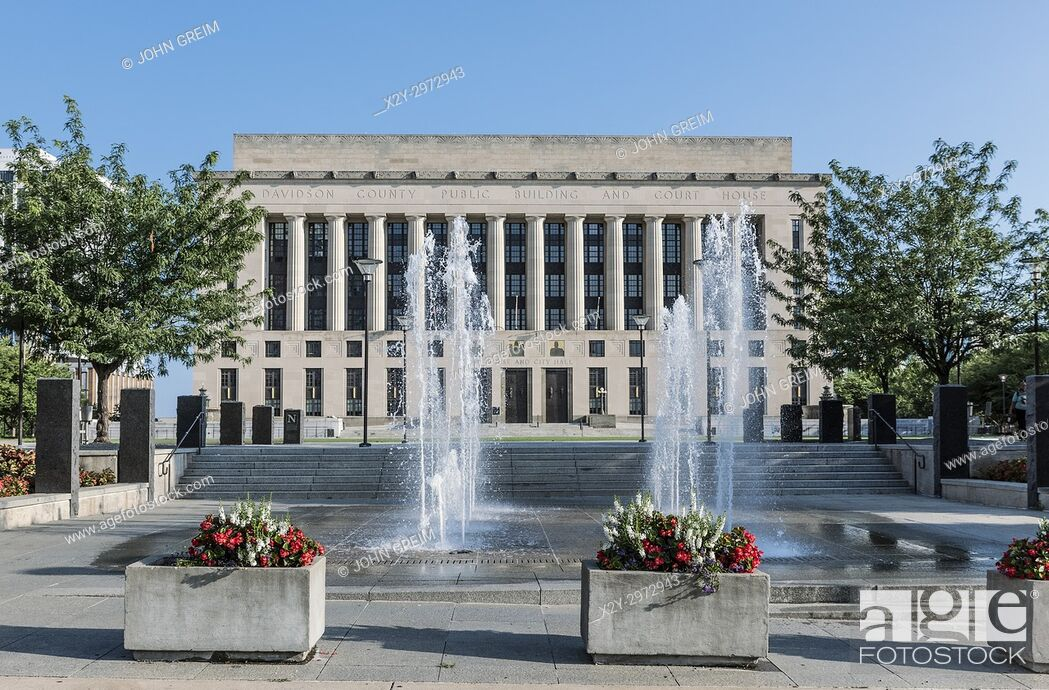 Stock Photo: Davidson County City Hall and Court House, Nashville, Tennessee, USA.