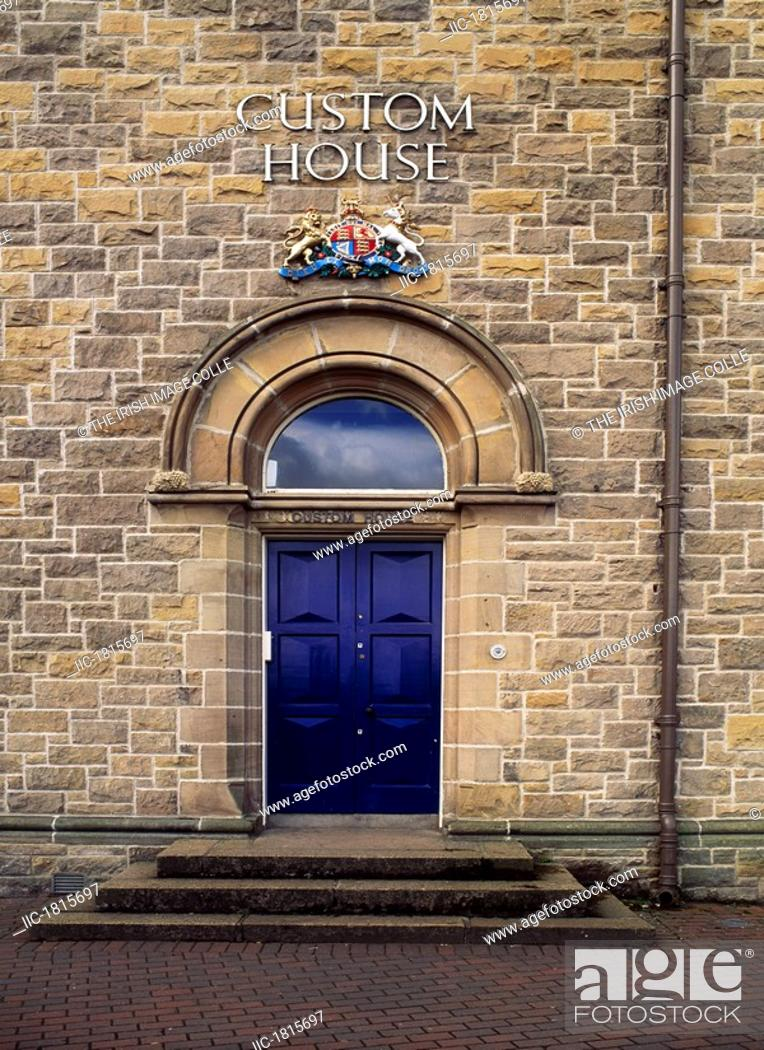 Stock Photo: Entrance to the Custom House, Derry City, Co Derry, Ireland.