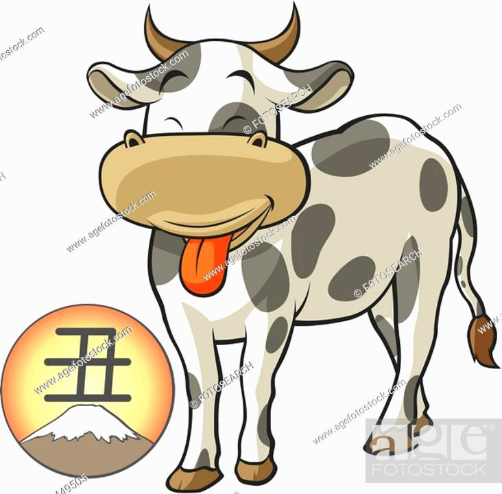 Stock Photo: pose, Hujimountain, anthropomorphic, animal, sun, posed, japan.