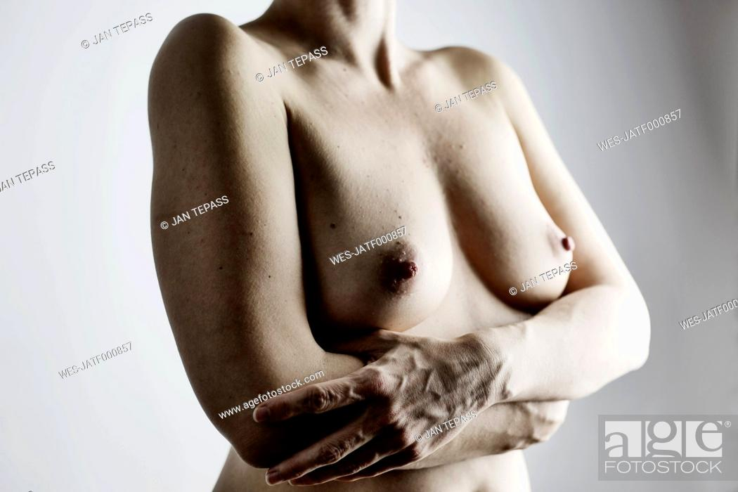 Stock Photo: Breasts of nude woman.
