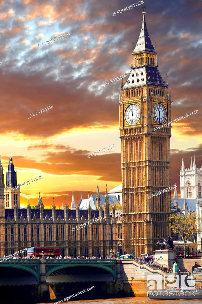 Stock Photo: Houses of Parliament, Westminster, London.