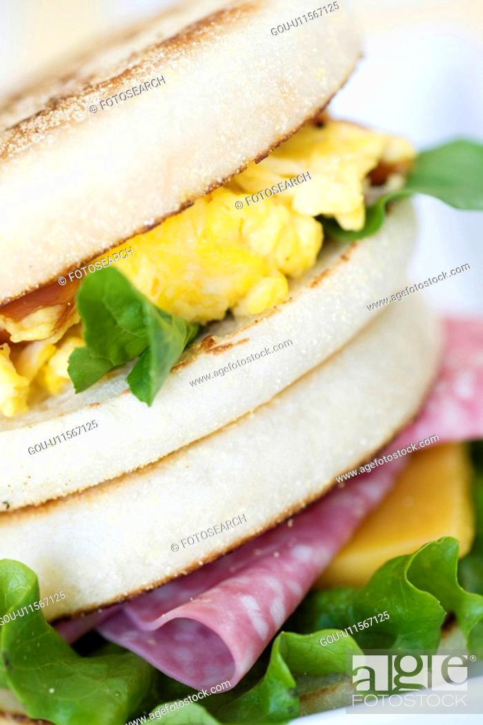 Stock Photo: English muffin.