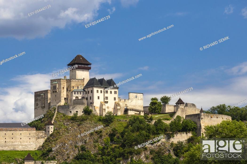 Stock Photo: Trencin Castle (Trenciansky Hrad), Slovakia.