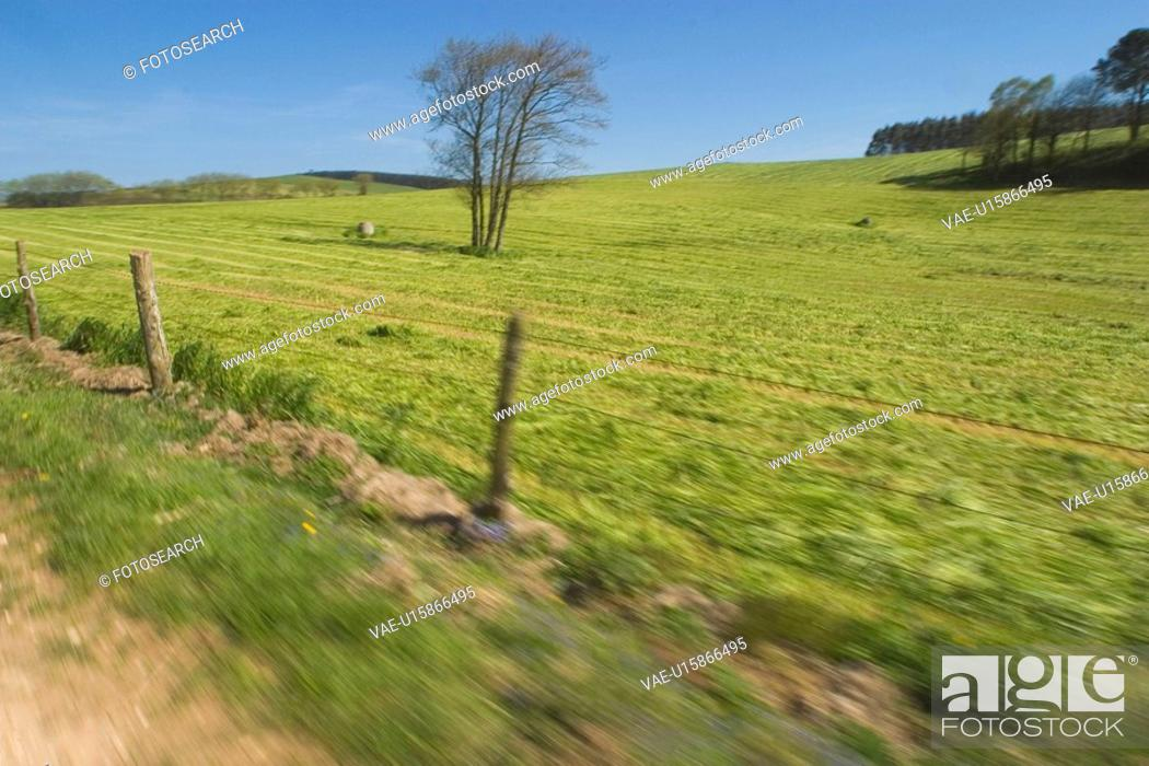 Stock Photo: barbed wire fence, climate, condition.