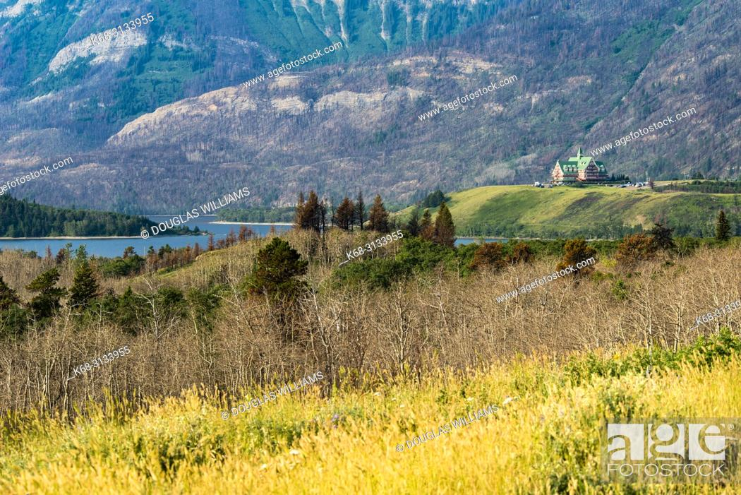 Imagen: Prince of Wales Hotel in Waterton Lakes National Park, southern Alberta, Canada.