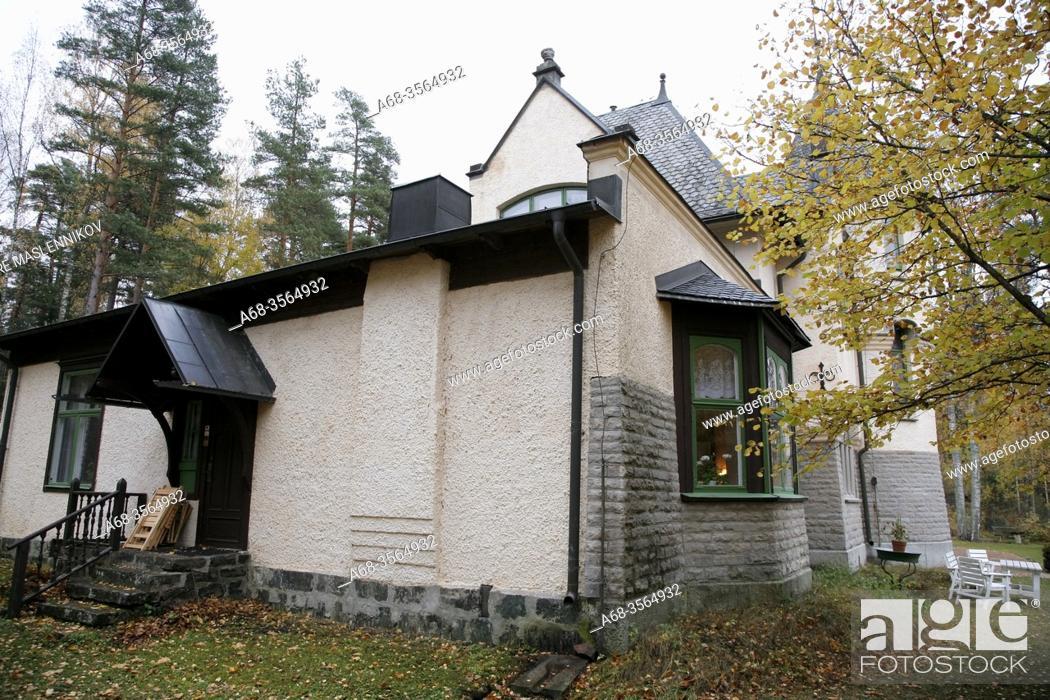 Stock Photo: Hvilan. Villa in Ängelsberg built by the artist Arvid Mauritz Lindström, 1894. Sweden. Photo: André Maslennikov.