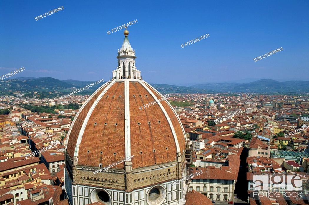 Stock Photo: Duomo And The Florence City.