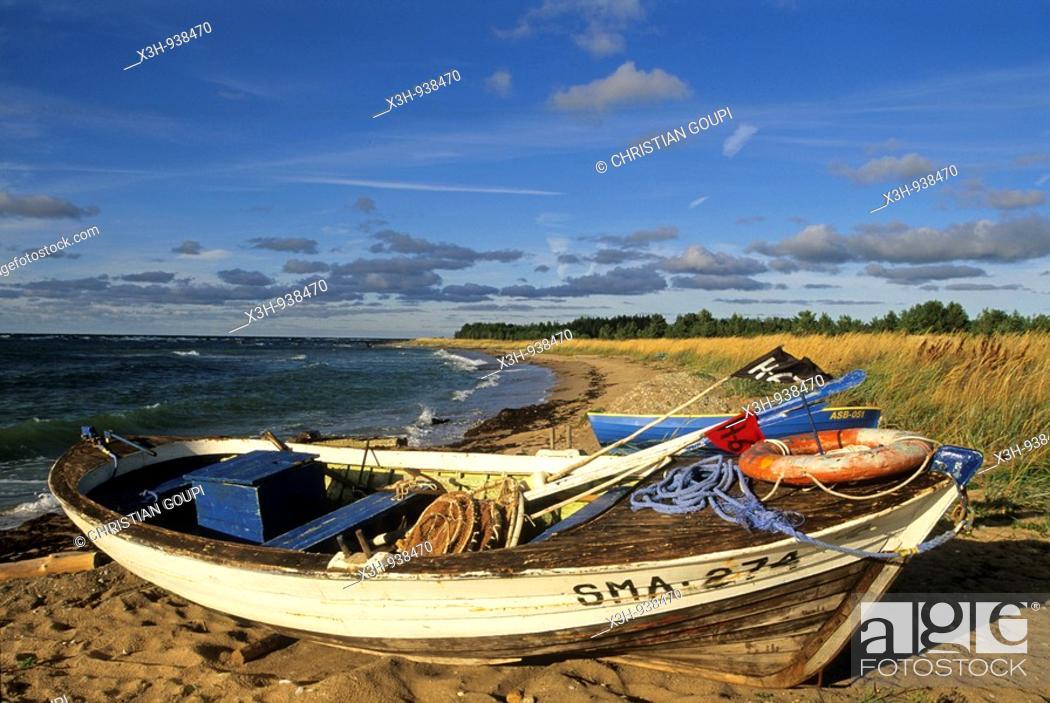 Stock Photo: littoral a Panga,ile de Saaremaa,region de Saare,Estonie,pays balte,europe du nord.