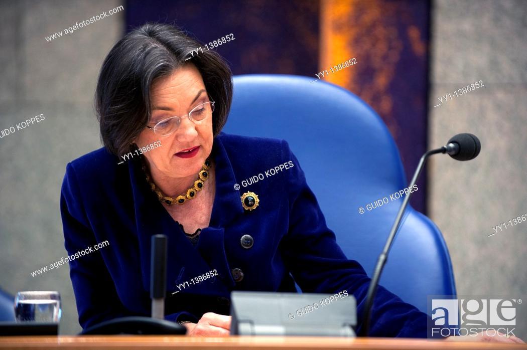 Stock Photo: Chairman of Dutch Parliament, Mrs. Gerdi A Verbeet.