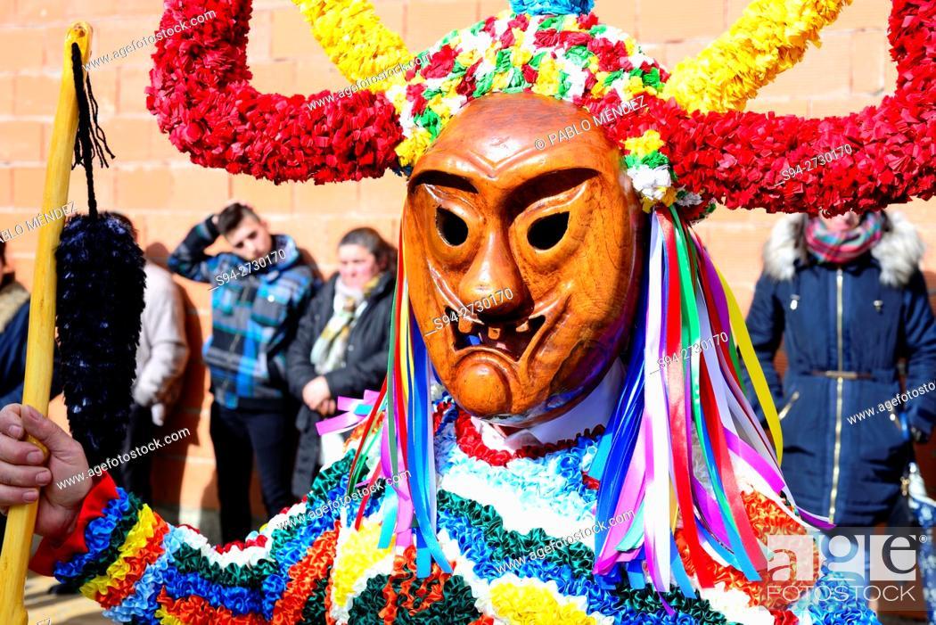 Stock Photo: Boteiro. Entroido of Viana do Bolo, Orense, Spain.