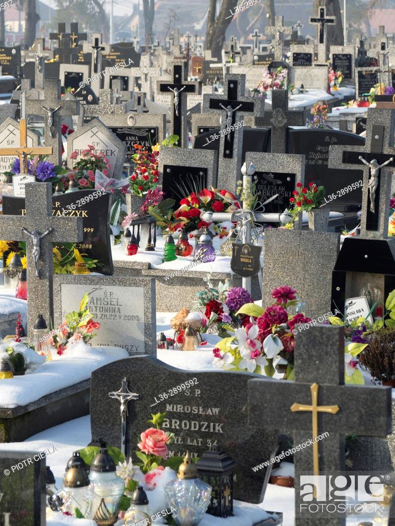 Stock Photo: Poland. Knyszyn - cemetery.