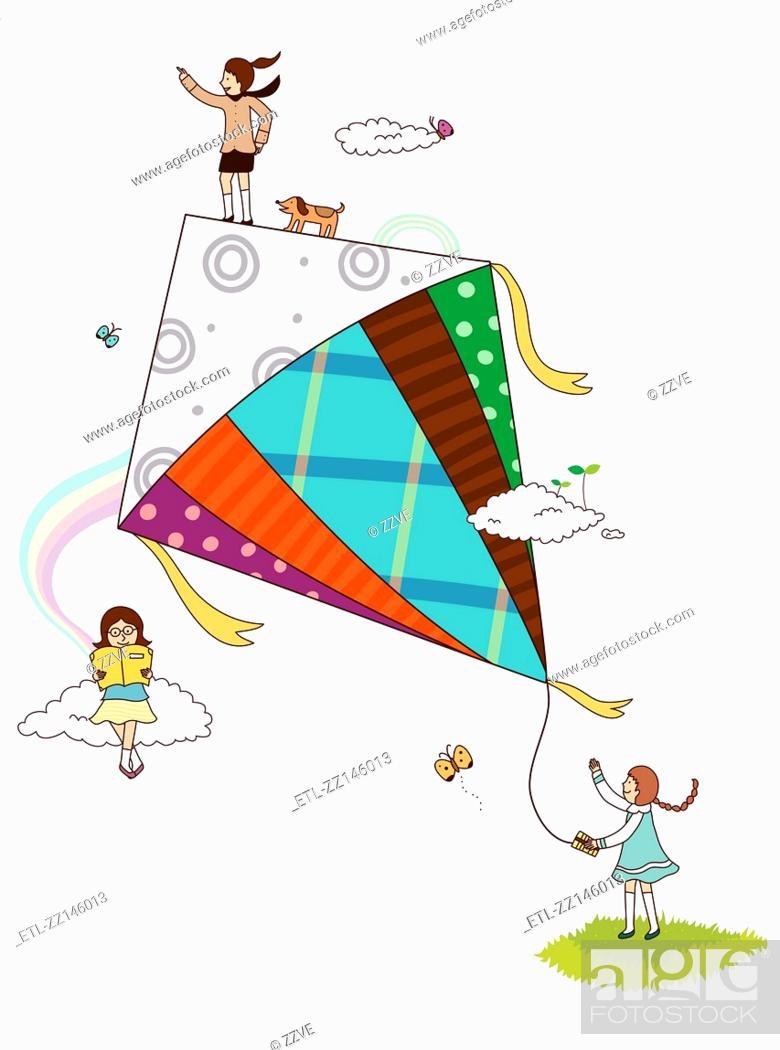 Stock Photo: Fly a kite.