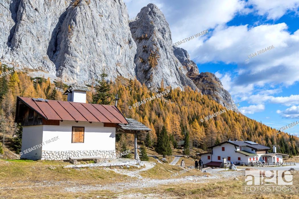 Stock Photo: Passo di Col di Caneva, Province of Belluno, Veneto, Italy, Europe.