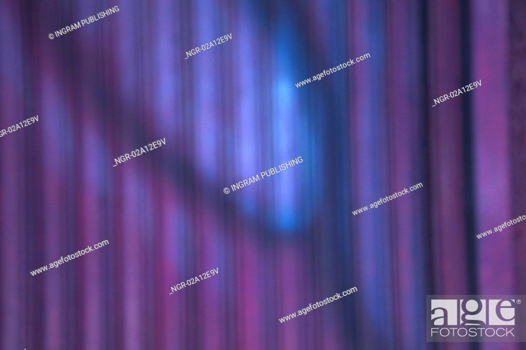 Stock Photo: Close-up of a purple drape.