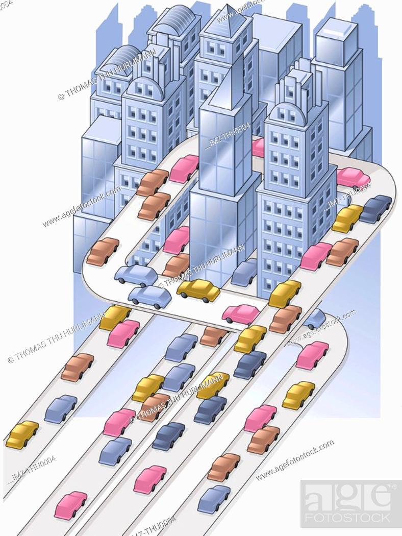 Stock Photo: traffic in the city.