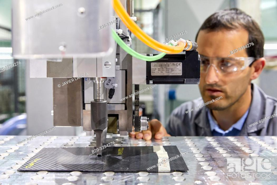 Stock Photo: Tape Layer Cell, Wrapping equipment for manufacturing composite materials, aerospace industry, Industry Unit, Technology Centre, Tecnalia Research & Innovation.