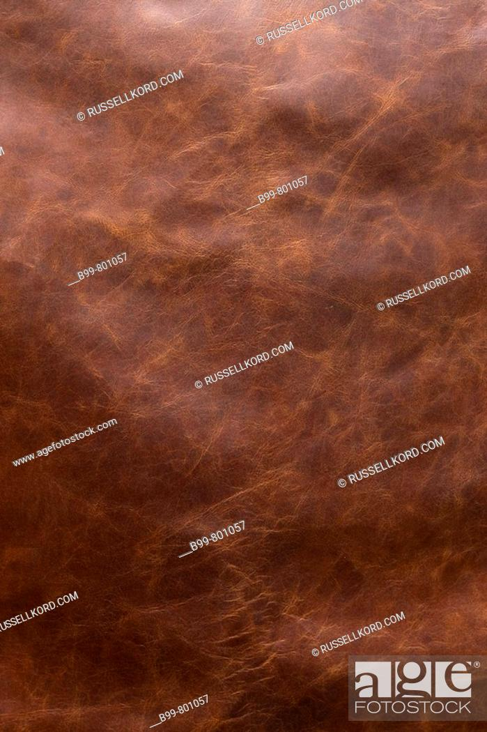 Stock Photo: Tanned Leather Full Cowhide.
