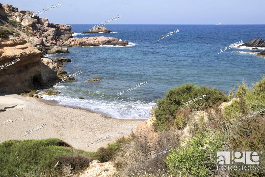 Stock Photo: Mediterranean sea in Cartagena, Murcia, Spain.