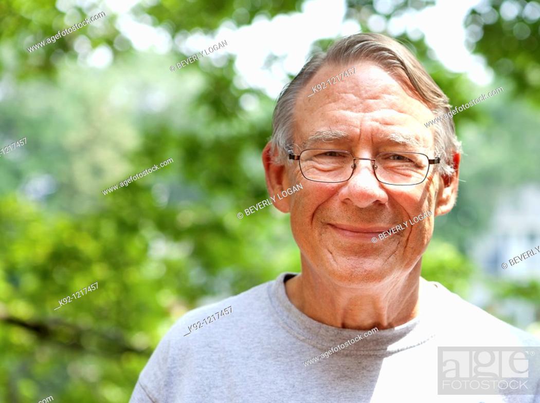 Stock Photo: Smiling senior man.