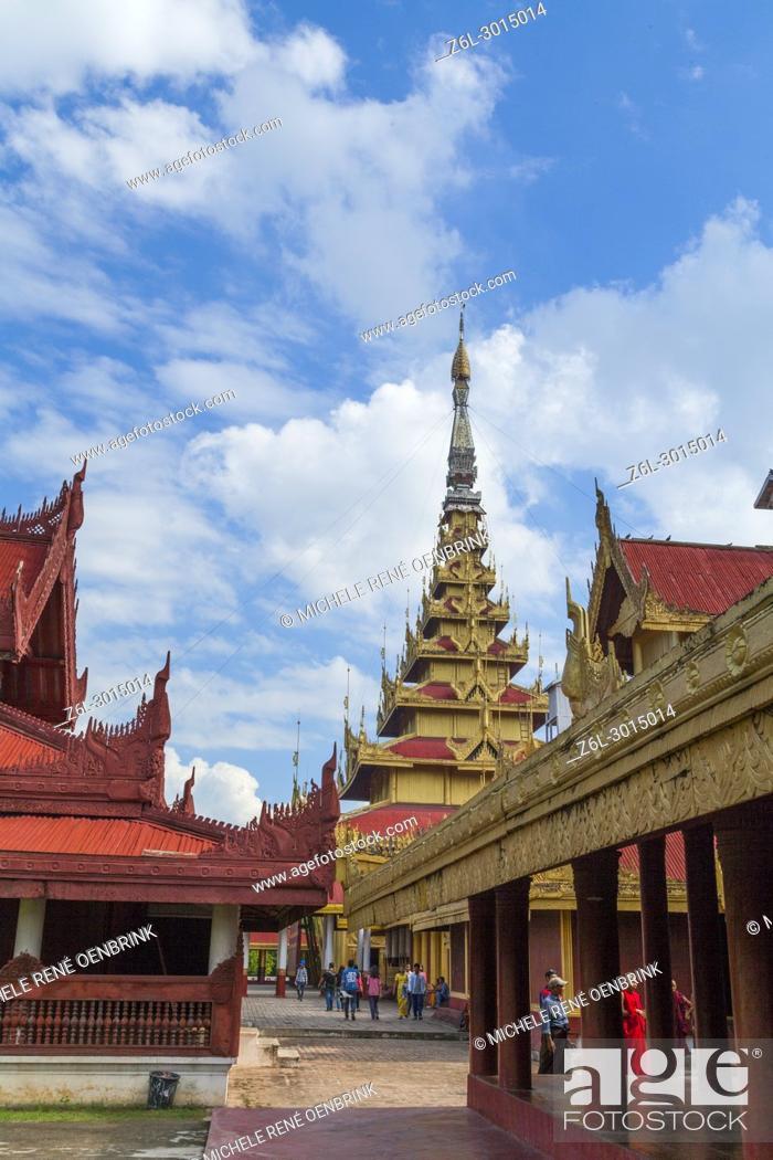 Stock Photo: Mandalay Royal Palace in Mandalay Myanmar.