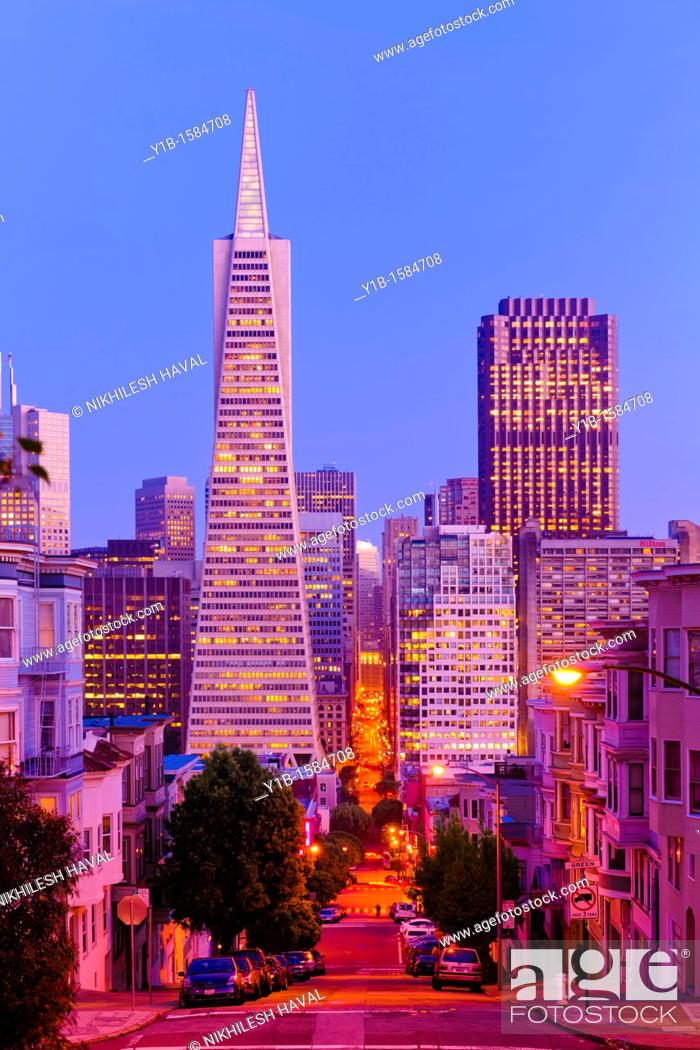 Stock Photo: TransAmerica Pyramid, San Francisco.