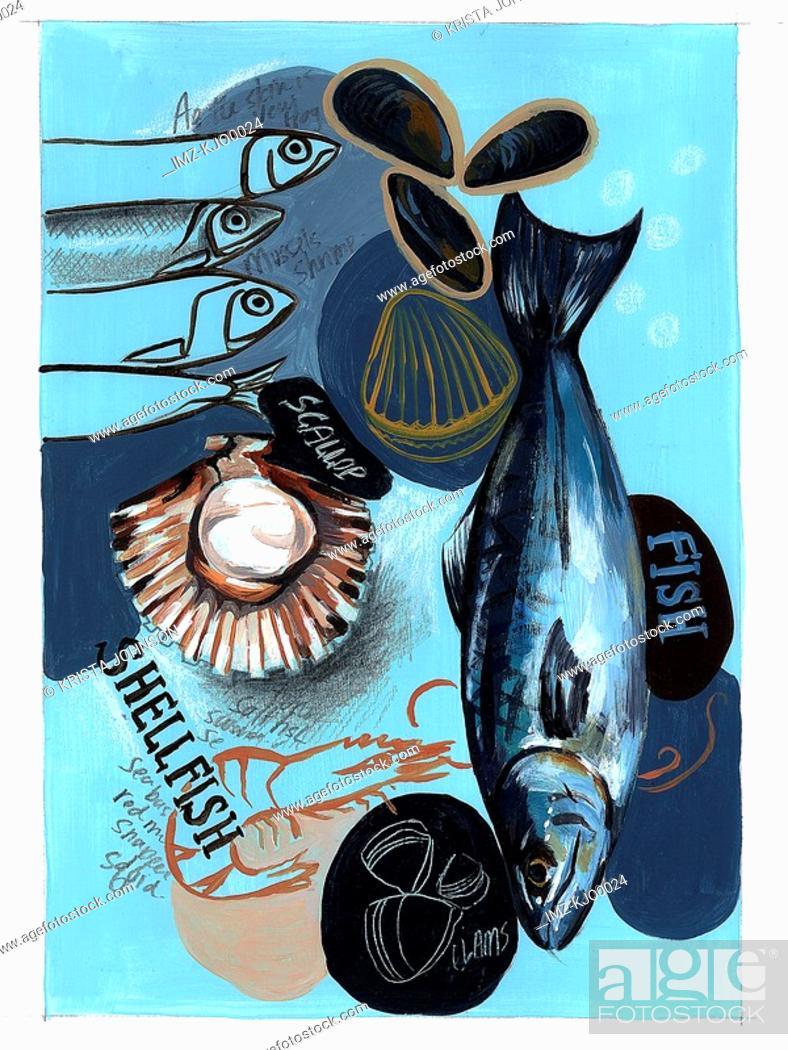 Photo de stock: seafood selection.