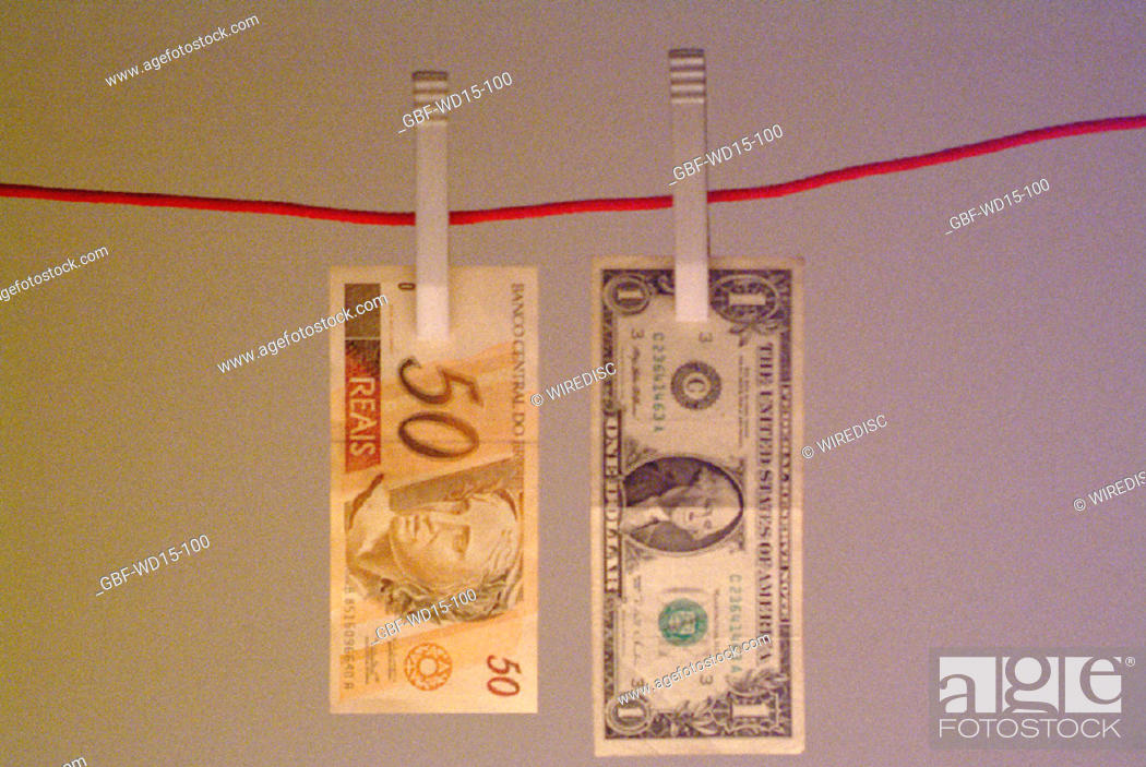 Stock Photo: Businesses Concepts II, dollar, Real, Brazil.
