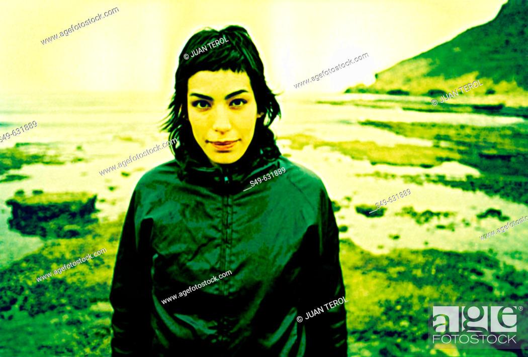 Stock Photo: Woman. Almeria , Andalusia, Spain.