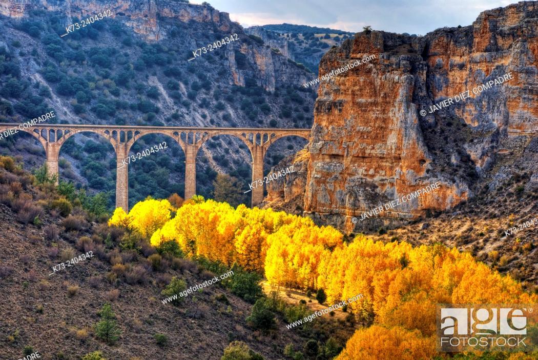 Stock Photo: Hoces del Riaza Natural Park. Maderuelo. Segovia province. Castilla y Leon. Spain.