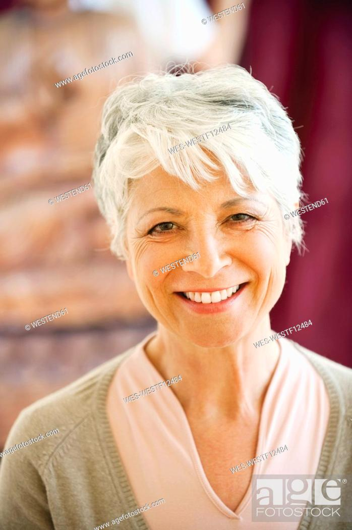 Stock Photo: Portrait of a senior woman, close-up.