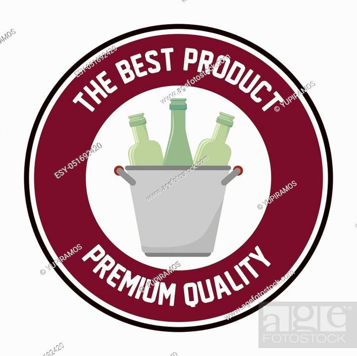 Stock Vector: the best wine shop seal guaranteed vector illustration design.