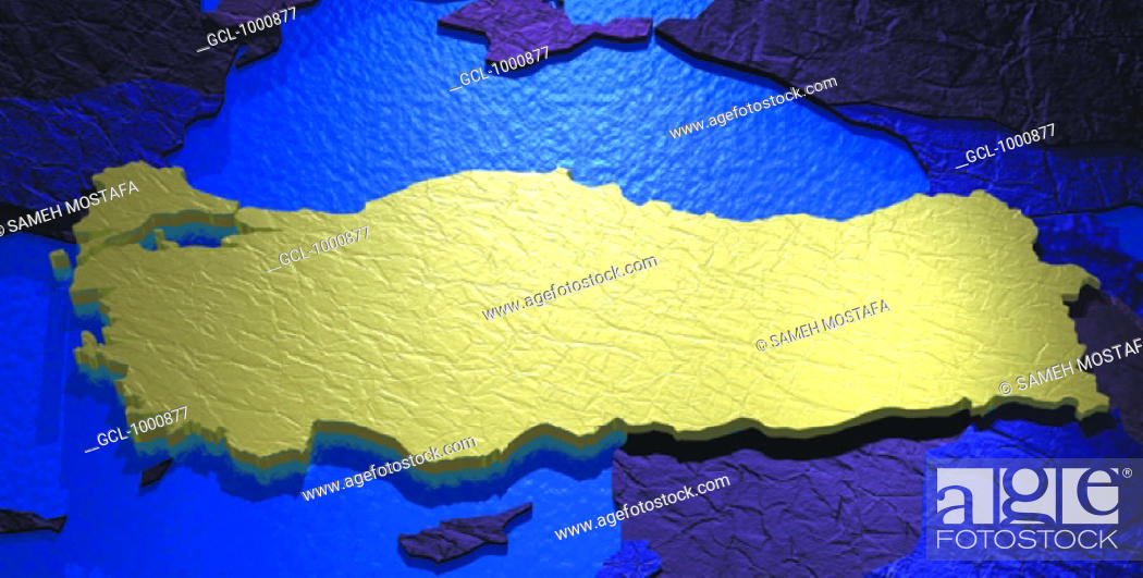 Stock Photo: map of Turkey.